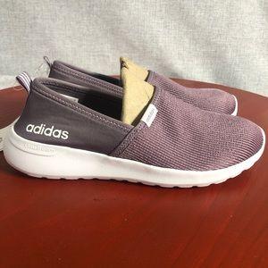 Adidas Lite Racer Women's 8.5 Shoes Purple/White Slip On Comfort Trainer Sneaker